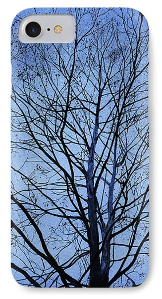 Tree In Winter Phone Case by Andrew King