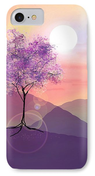Tree On A Hill IPhone Case by Ginny Schmidt