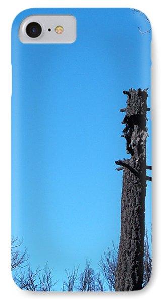 Tree Trunk Burned IPhone Case by Naxart Studio