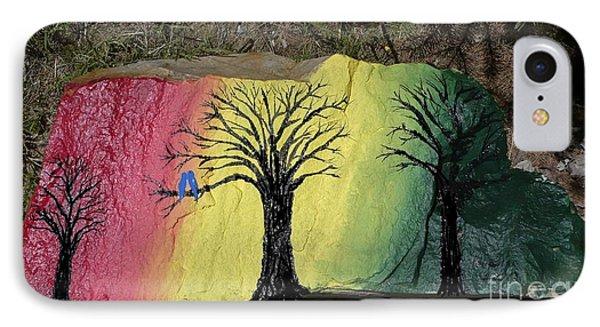 Tree With Lovebirds Phone Case by Monika Shepherdson