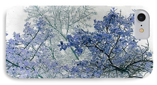 Trees Above IPhone Case by Rebecca Margraf