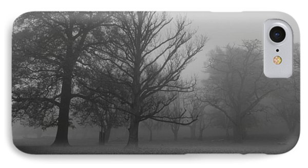 IPhone Case featuring the photograph Trees And Fog by Maj Seda