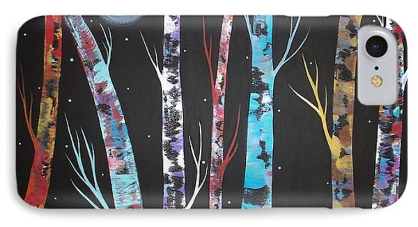 Trees And Moon IPhone Case by Karla Gerard
