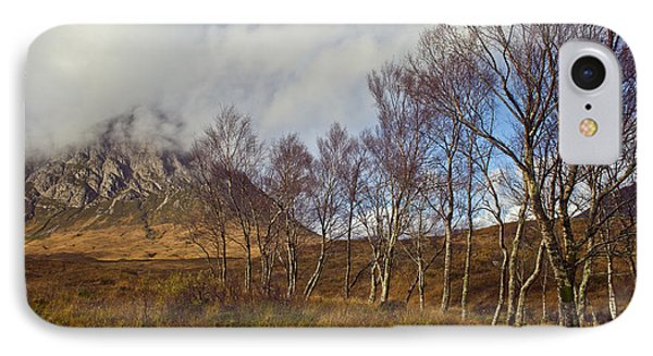 Trees Below Stob Dearg Phone Case by Gary Eason