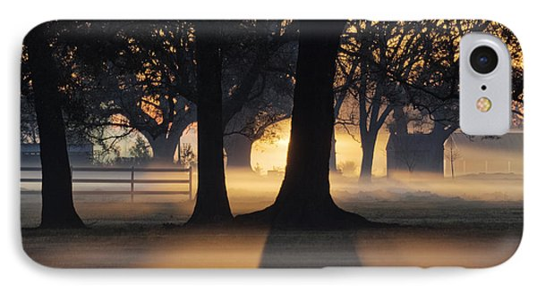 Trees In The Morning Mist Phone Case by Jeremy Woodhouse
