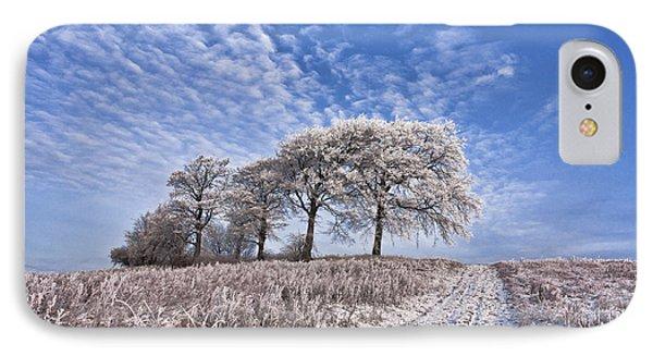 Trees In The Snow Phone Case by John Farnan