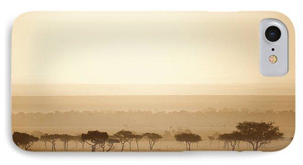 Trees On The Savannah At Sunset Masai Phone Case by David DuChemin