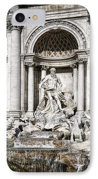 Trevi Fountain Detail Phone Case by Joan Carroll