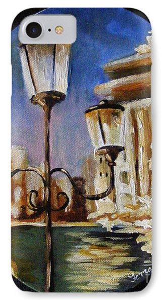IPhone Case featuring the painting Trevi Fountain by Karen  Ferrand Carroll