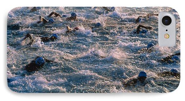 Triathlon Swimmers Phone Case by G. Brad Lewis
