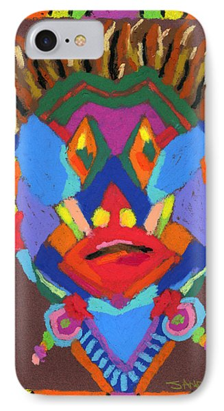 Tribal Mask Phone Case by Stephen Anderson
