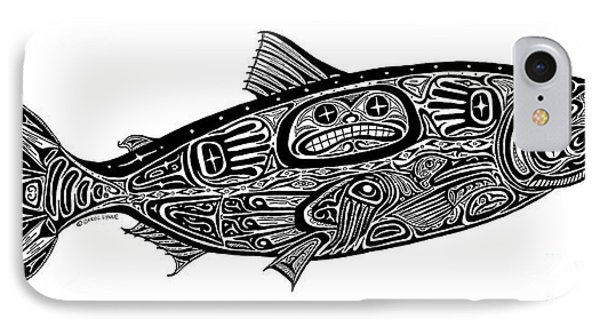 Tribal Salmon Phone Case by Carol Lynne
