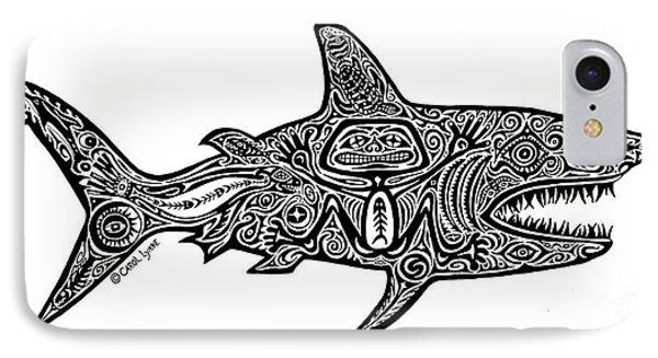 Tribal Shark IPhone Case by Carol Lynne