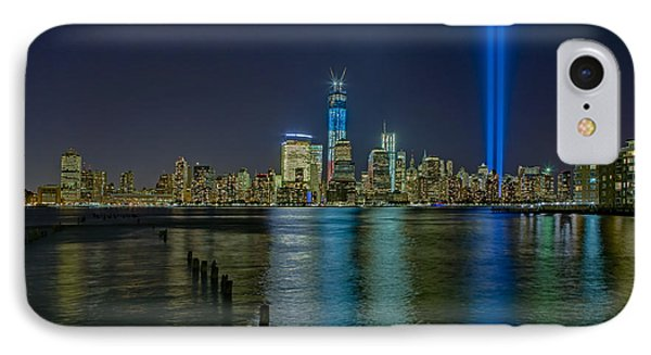 Tribute In Lights Phone Case by Susan Candelario