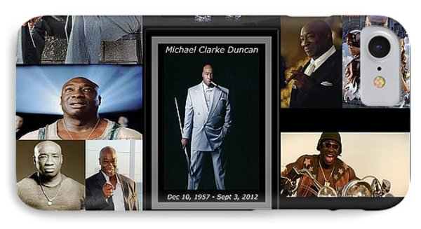 Tribute To Michael C. Duncan Phone Case by Davandra Cribbie