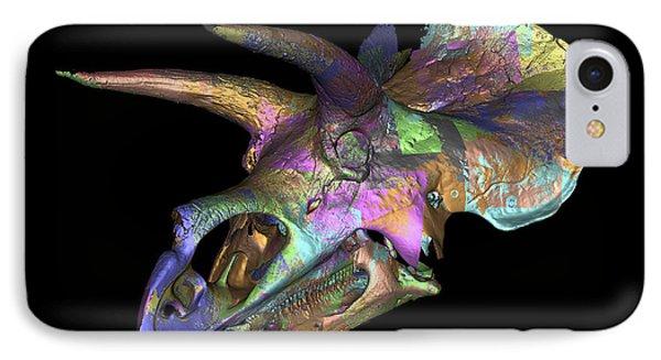 Triceratops Dinosaur Skull Phone Case by Smithsonian Institute