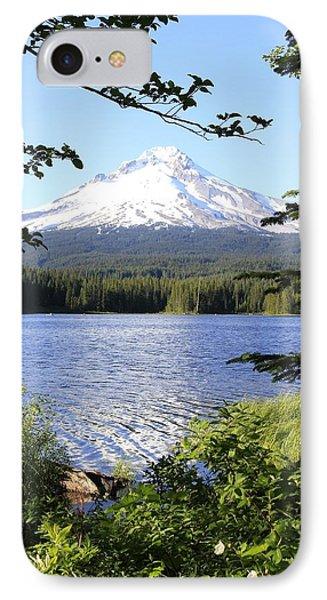 Trillium Lake At Mt. Hood IPhone Case by Athena Mckinzie
