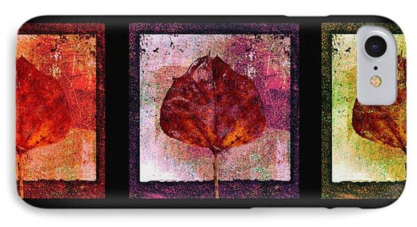 Triptych Leaves  Phone Case by Ann Powell