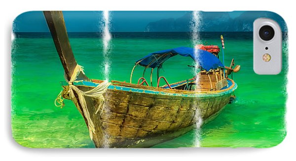 Triptych Longboat Phone Case by Adrian Evans