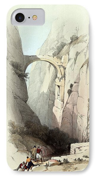 Triumphal Arch Across The Ravine Leading To Petra Phone Case by Munir Alawi