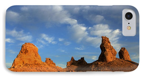 Trona Pinnacles Golden Hour Phone Case by Bob Christopher