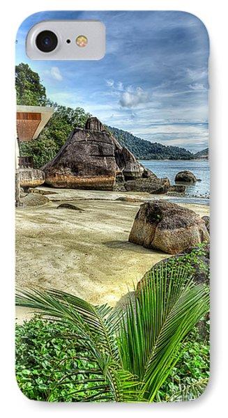 Tropical Beach Phone Case by Adrian Evans