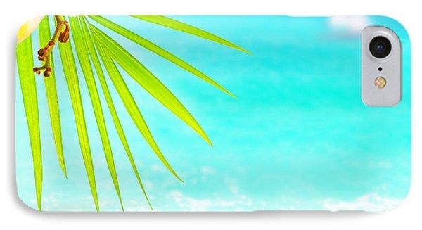 Tropical Beach Border Phone Case by Anna Om