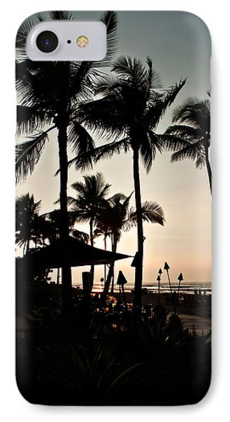 IPhone Case featuring the photograph Tropical Island Silhouette Beach Sunset by Valerie Garner