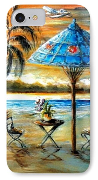 IPhone Case featuring the painting Tropical Sunset by Bernadette Krupa