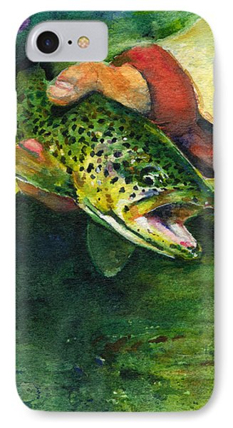 Trout In Hand Phone Case by John D Benson
