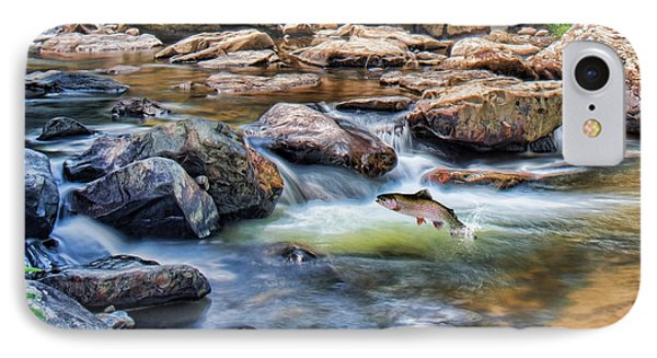 IPhone Case featuring the digital art Trout Stream by Mary Almond