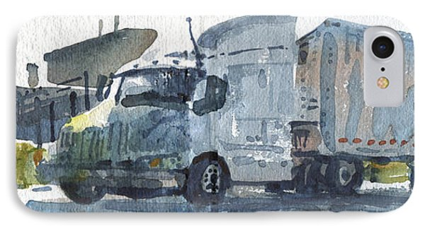 Truck Panorama IPhone Case by Donald Maier