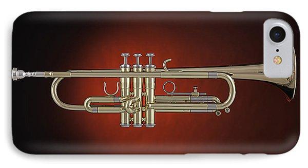 Trumpet Red Spotlight  IPhone Case by M K  Miller