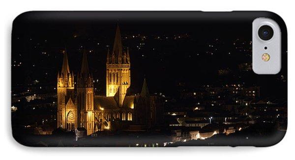 Truro Cathedral Illuminated Phone Case by Brian Roscorla