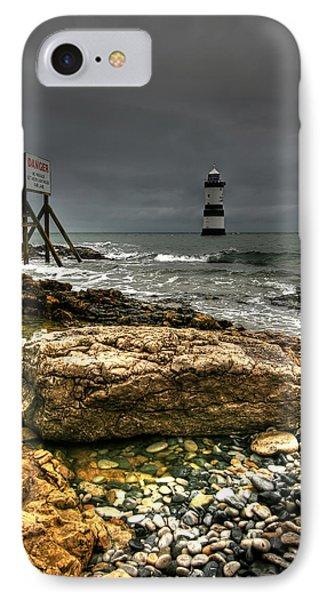 Trwyn Du Lighthouse Phone Case by Adrian Evans