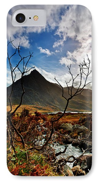 IPhone Case featuring the photograph Tryfan And Tree by Beverly Cash