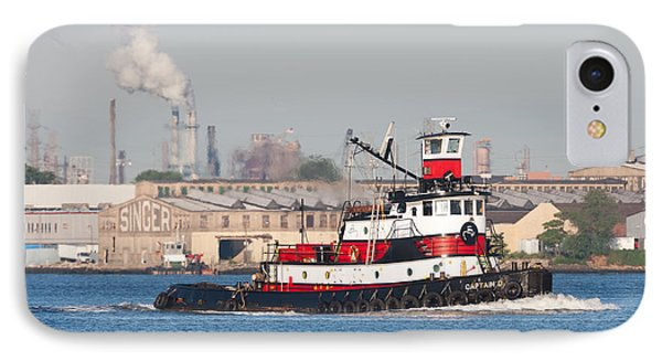 Tugboat Captain D In Newark Bay I Phone Case by Clarence Holmes