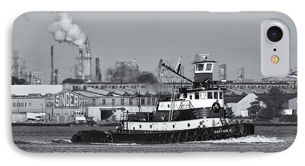 Tugboat Captain D In Newark Bay II Phone Case by Clarence Holmes