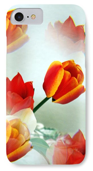 Tulip Abstract Phone Case by Marilyn Hunt