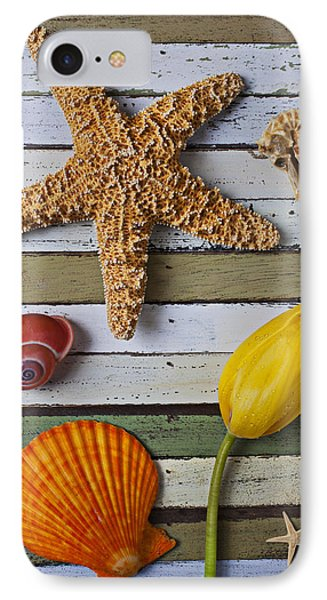 Tulip And Starfish Phone Case by Garry Gay