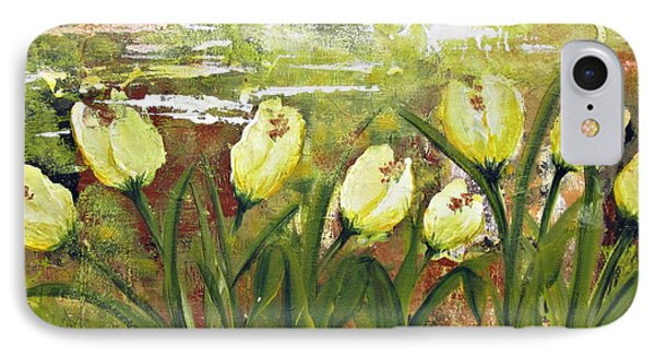 IPhone Case featuring the painting Tulip Dance by Kathy Sheeran