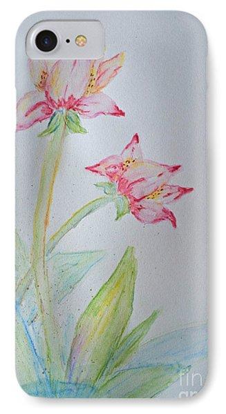 Tulip Duo I  Phone Case by Debbie Portwood