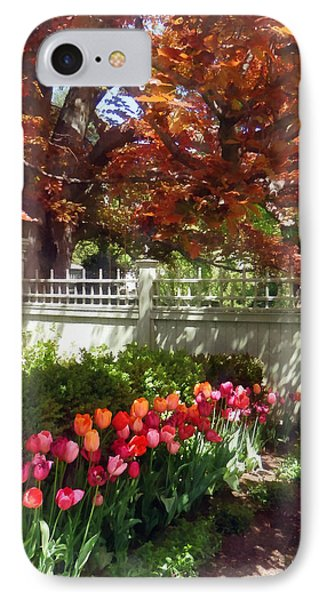 Tulips By Dappled Fence Phone Case by Susan Savad