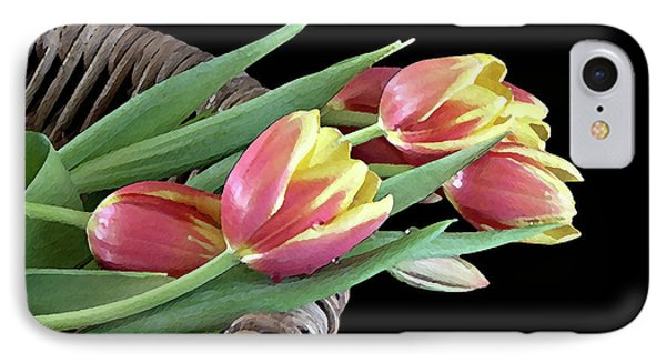 IPhone Case featuring the photograph Tulips From The Garden by Sherry Hallemeier