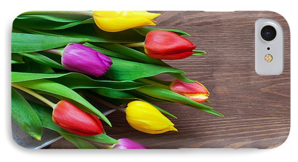 Tulips On The Table Phone Case by Richard Thomas