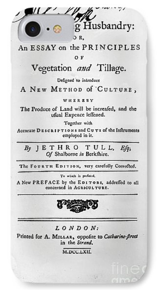 Tull: Title Page, 1762 Phone Case by Granger