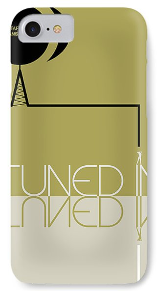 Tuned In Poster IPhone Case by Naxart Studio