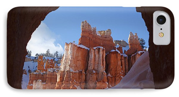 IPhone Case featuring the photograph Tunnel In The Rock by Susan Rovira