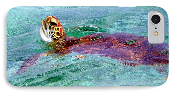 Turtle Time  Phone Case by Karen Wiles