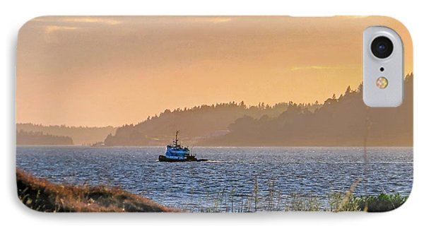 Twilight Tug -chambers Bay Golf Course IPhone Case by Chris Anderson